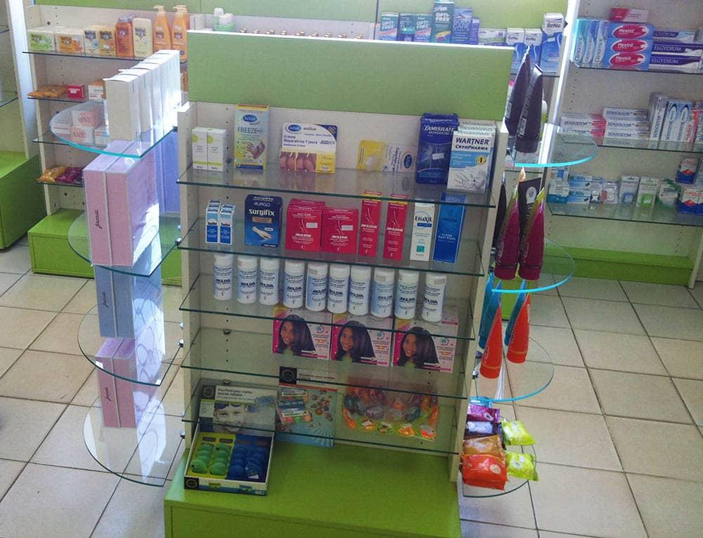 gondole-produit-pharmacie